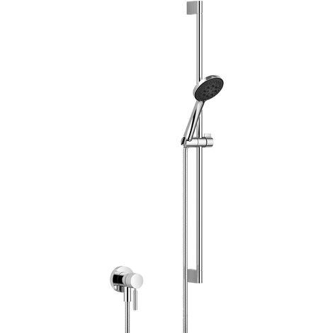 Mitigeur monocommande encastré Dornbracht avec raccord de douche intégré avec kit de douche, sans douchette, 36013660, Coloris: foncé Platine mat - 36013660-99