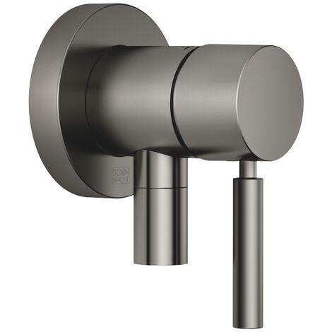 Mitigeur monocommande encastré Dornbracht avec raccord de douche intégré, avec plaque de recouvrement 78 mm, 36045660, Coloris: laiton brossé - 36045660-28