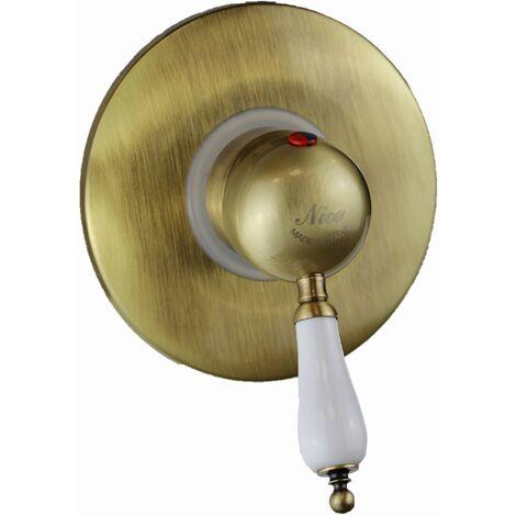 Mitigeur pour cabine de douche couleur bronze antique Nice Funny 6060004BB | Bronze - 1 sortie