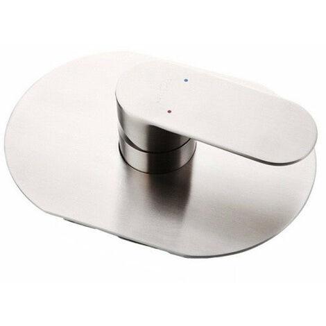 Mitigeur pour douche, encastré et en acier inoxydable