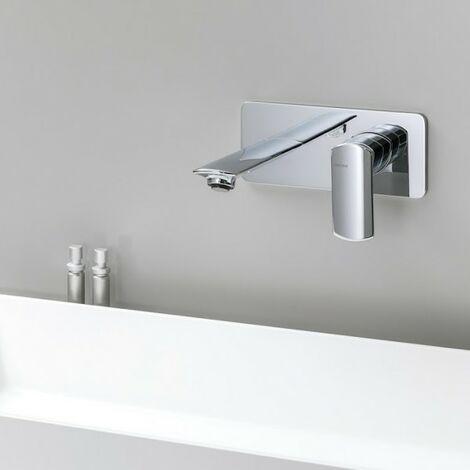 Mitigeur pour lavabo mural (saillie 18.5) avec plaque laiton PROFILO - CRISTINA ONDYNA PF25651