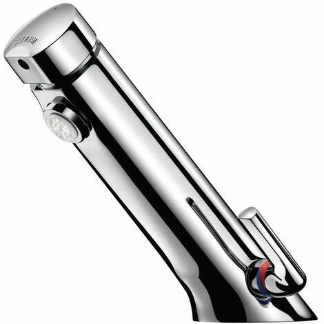 Mitigeur temporisee pour lavabo DELABIE Temposoft MIX 2 avec robinet d\'arret ref. 742500