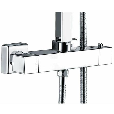 """main image of """"Mitigeur thermostatique carré double sortie pour colonne douche"""""""