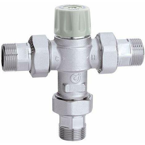 Mitigeur thermostatique réglable avec clapets anti-retour et filtres Caleffi 5217