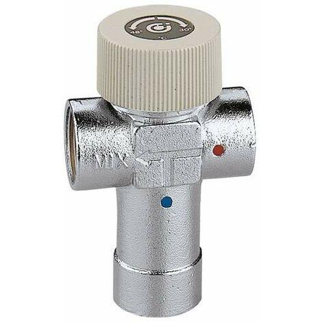 Mitigeur thermostatique réglable avec corps en laiton chromé Caleffi 520