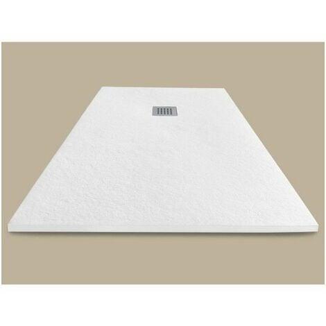 MITOLA Receveur de douche rectangulaire a poser Liwa - 120 x 90 cm - Résine composite - Blanc