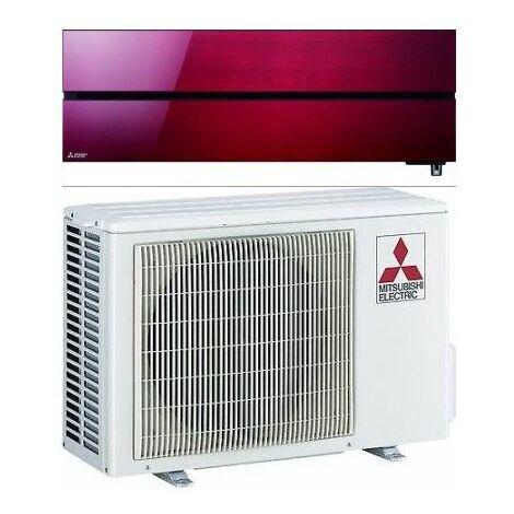 MITSUBISHI ELECTRIC MUZ-LN35VG2 + MSZ-LN35VG2R Kit Monosplit a Parete Kirigamine Style R32 con Wi-Fi Integrato - 3.5 kW Rosso Rubino