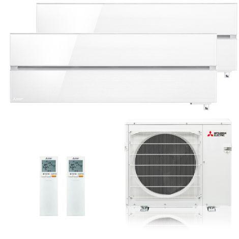 "Mitsubishi Klimaanlage R32 Multisplit Set ""Diamond"" 1 x 2,5/1 x 3,5 kW Weiß"