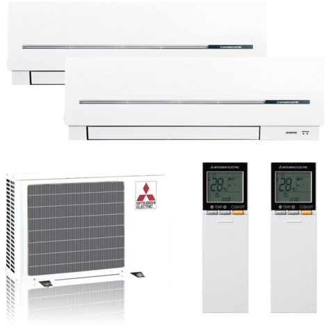 "Mitsubishi Klimaanlage R32 Multisplit Set ""Kompakt"" 1 x 2,5/1 x 3,5 kW"