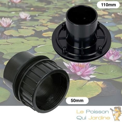 Mix De 2 Passe-Parois, à VISSER 50 mm + VIS INOX 110 mm, PVC , Pour Bassins