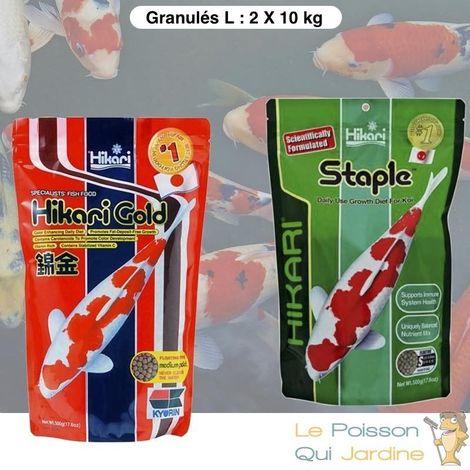 Mix De Granulés Premium, Couleur Et Croissance Pour Poissons De Bassins, 10Kg, Large