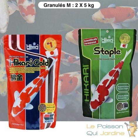 Mix De Granulés Premium, Couleur Et Croissance Pour Poissons De Bassins, 5Kg, Médium