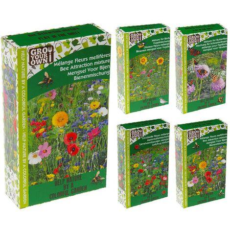 Mix de semillas de flores para jardin 4 surtidos distintos