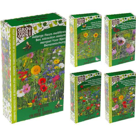 Mix De Semillas De Flores Para Jardin 4 Surtidos Distintos - NEOFERR