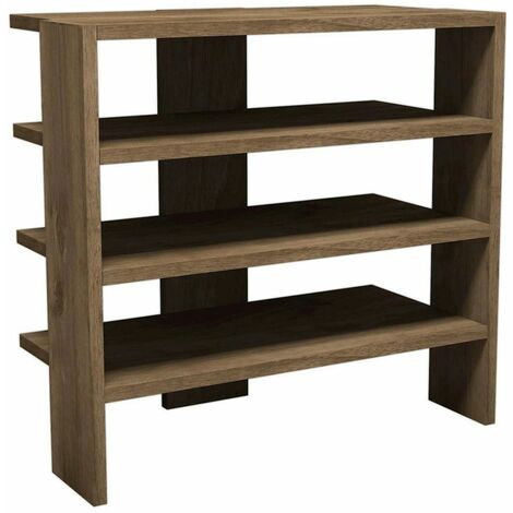 Mix Shoe Cabinet - Organizer Rack - with Shelves - for Hall - Oak, made in Wood, 63,6 x 31,8 x 60 cm