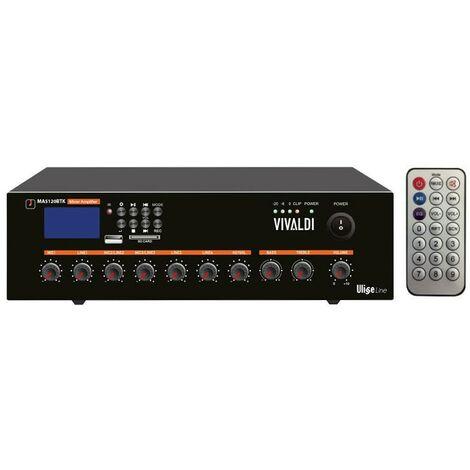 Mixer Amplificatore Vivaldi 120W 100V con telecomando MA5120BT
