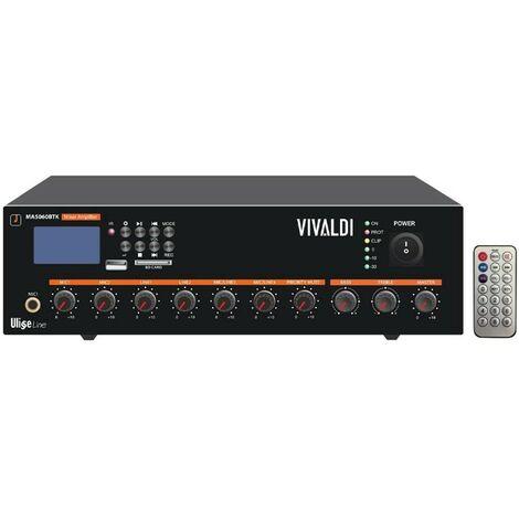 Mixer Amplificatore Vivaldi 60W 100V con telecomando MA5060BT