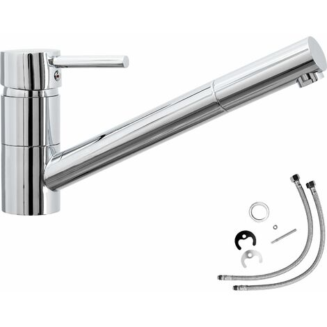 Mixer tap, traversable - faucet tap, kitchen tap, kitchen mixer tap - grey