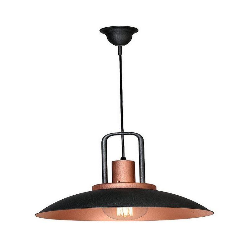 Homemania - Mizar Haengelampe - Kronleuchter - Deckenkronleuchter - Schwarz, Kupfer aus Metall, 37 x 37 x 85 cm, 1 x E27, 60W