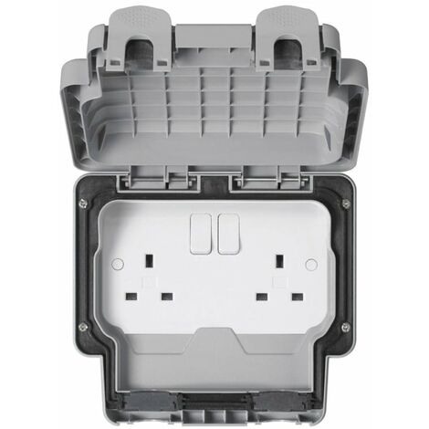 MK Electric Outdoor Socket, Double