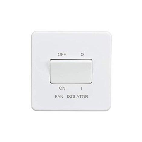 Knightsbridge Screwless 10AX 3 Pôle Ventilateur Isolateur Switch-Matt Black