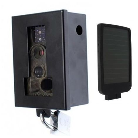 MMS C60 Battery CCTV with Protective Steel Cage & Solar Charger [002-0850]