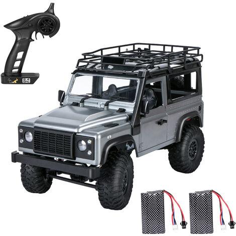 Mn 99S 2.4G 1/12 4 Roues Motrices Rtr Chenilles Rc Car Camion Hors Route Pour Land Rover Modeles De Vehicules 2 Batteries, Gris