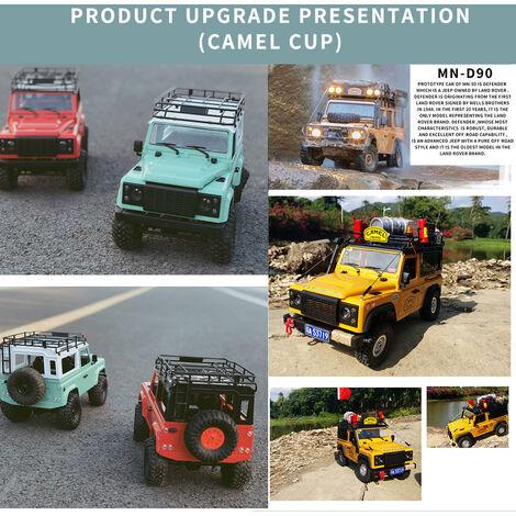Mn-D90K 1/12 Rc Crawler Defender Truck Racing Hors Route Voiture Pour Adultes Enfants Bricolage Lecture Kit Sans Recepteur Esc Batterie, Jaune
