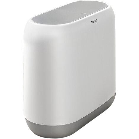 MNLJT-390 Poubelle de cuisine et de salle de bain de type presse aseparation seche et humide 10 L, gris