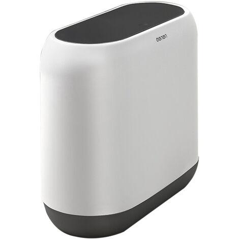 MNLJT-390 Poubelle de cuisine et de salle de bain de type presse aseparation seche et humide 10L, noir