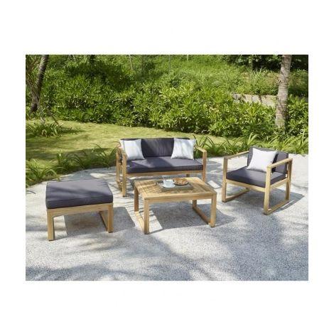 MOA Salon de jardin 4 places en bois dacacia FSC - un ...
