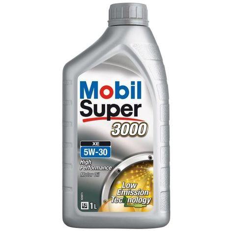 MOBIL HUILE MOTEUR ESSENCE DIESEL SUPER 3000 XE - 5W30 - SYNTHÉTIQUE - 1L 50391