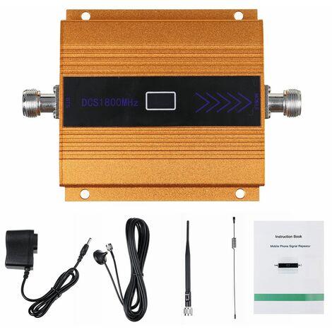 Mobile 4G amplificateur de Signal répéteur téléphone portable GSM 2G 4G LTE 1800MHz LCD affichage téléphone portable DCS Signal Booster + antenne