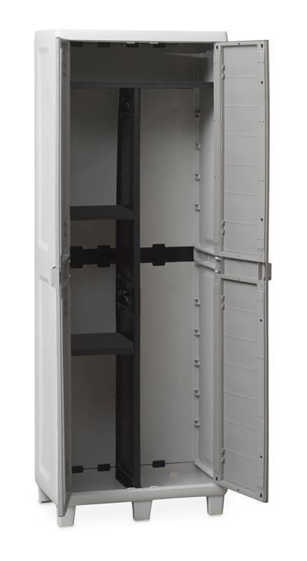 Mobile alto woody\'s porta scope con 3 ripiani grigio e tortora ...