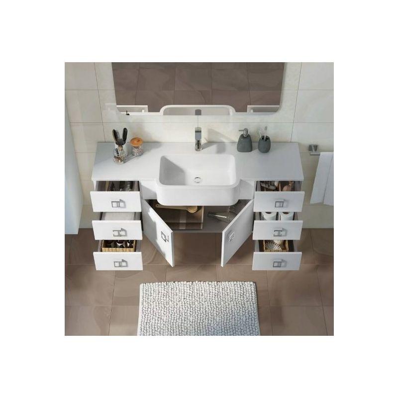 Mobili Arredo Bagno Bianco : Mobile arredo bagno clo cm sospeso moderno disponibile in