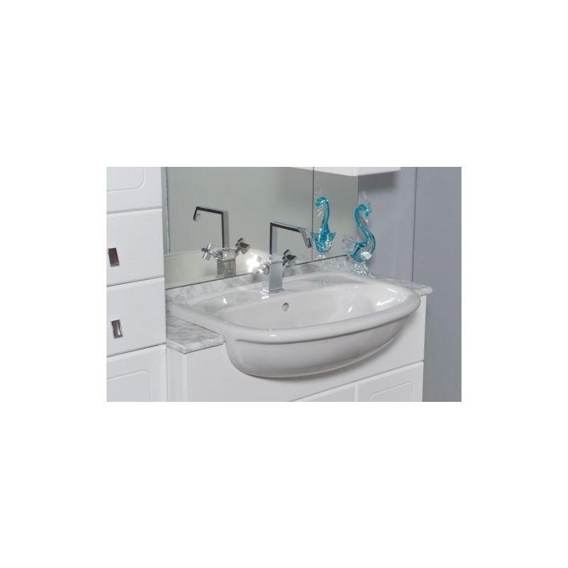Mobile Bagno Per Lavabo Semincasso.Mobile Arredo Bagno 30 70 30 70 30 Semincasso Con Doppio Lavabo E Specchio Mobili Arredi 1