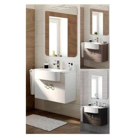 Mobile Arredo Bagno 70 cm sospeso moderno disponibile colore larice bianco  o grigio scuro con specchio Mobili 1
