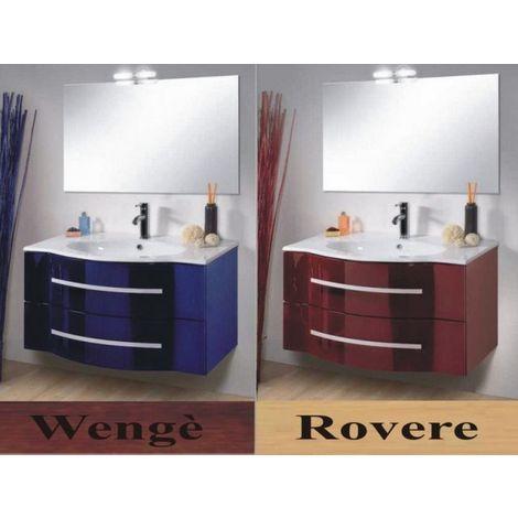 Mobile Arredo Bagno 90cm sospeso con cassetti o ante lavabo specchio arredi  Mobili specchi 1 rosso blu wengè rovere
