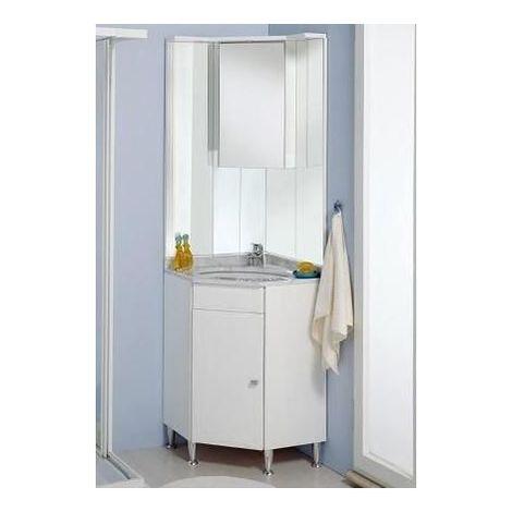 Lavabo Ad Angolo Con Mobiletto.Mobile Arredo Bagno Ad Angolo 57x57 Specchio Piedini E Lavabo