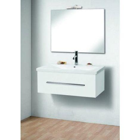99822c4f1f Mobile Arredo Bagno cm 80 sospeso moderno con un cassetto Mobili arredi  lavabo ceramica specchio bianco