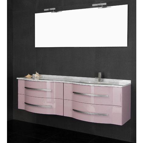 Mobile Arredo Bagno cm180 sospeso con doppio lavabo disponibile rosa ...