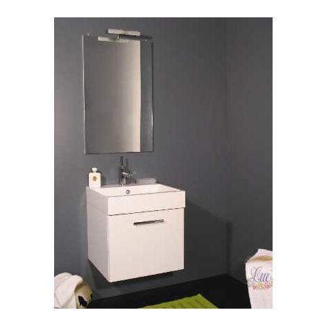 Ceramiche Arredo Bagno Moderno.Mobile Arredo Bagno Da 44 Cm Sospeso Un Anta Lavabo Ceramica Con Specchio Moderno Mobili Arredi 1 Bianco