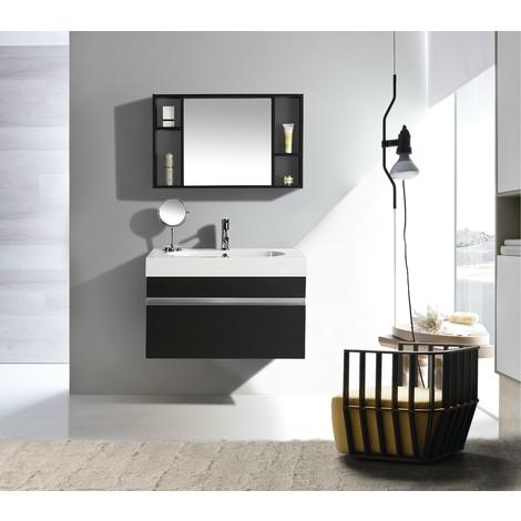 Mobili Da Bagno Idea.Mobile Arredo Bagno Idea 90 Cm Sospeso Moderno Nero