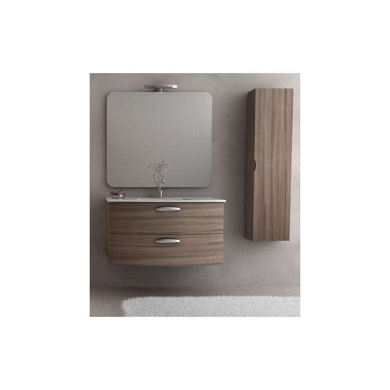 ac01bcbe73 Mobile Arredo da Bagno 74 cm sospeso due cassetti lavabo ceramica moderno  Mobili arredi bianco - Con01