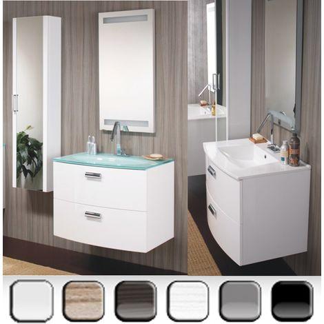 482a00bdc0 Mobile Arredo da Bagno 74 cm sospeso due cassetti lavabo ceramica moderno  Mobili arredi bianco