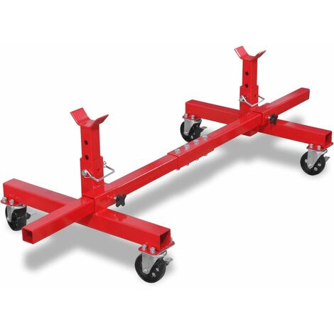 Mobile Axle Stand Red