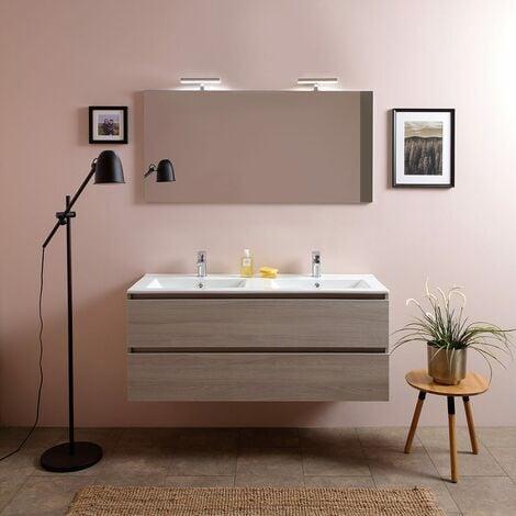 mobile bagno 120 cm con due cassetti e doppio lavabo