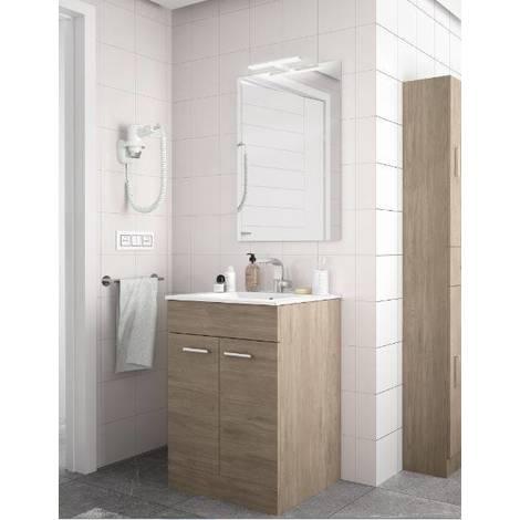 Mobile bagno 60 cm Feros in legno marrone Colorado con lavabo