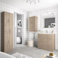 Mobile bagno 700 in legno marrone Colorado con lavabo Motril