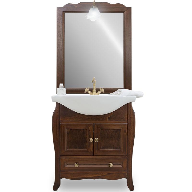 Mobile bagno arte povera 65cm con specchio